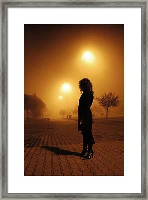 Thru The Fog Framed Print by Diego Bonomo