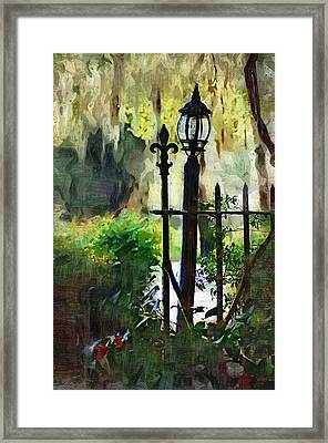 Framed Print featuring the digital art Thru The Gate by Donna Bentley