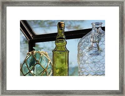 Thru The Looking Glass 3 Framed Print by Megan Cohen