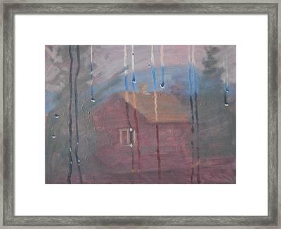 Thru The Window Framed Print by Len Stomski