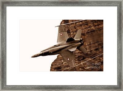 Thrust Framed Print by Angel  Tarantella