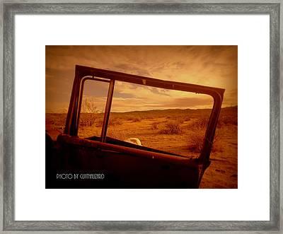 Thruthewindow Framed Print by Guy Hoffman