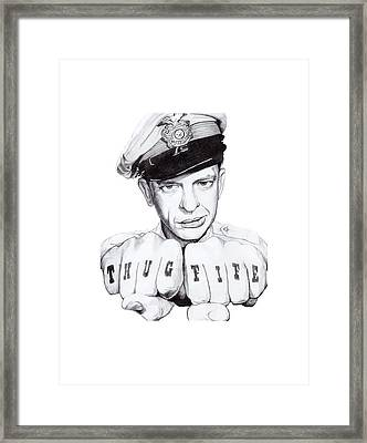 Thug Fife Framed Print by Noelle Lucia