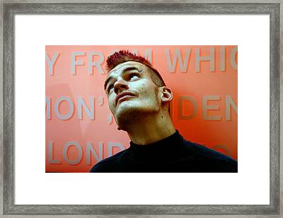 Thug Of Many Word Framed Print by Jez C Self