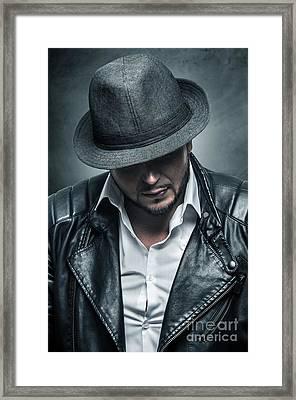 Thug Portrait Framed Print by Carlos Caetano