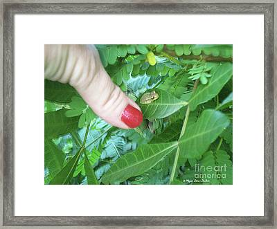 Framed Print featuring the photograph Thumb Sized by Megan Dirsa-DuBois