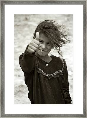 Thumbs Up Framed Print by Eric Foltz