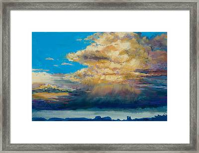Thundeclouds Framed Print by Billie Colson