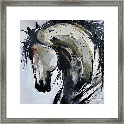 Framed Print featuring the painting Thunder And Lightning by Cher Devereaux