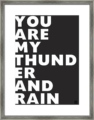 Thunder And Rain- Art By Linda Woods Framed Print