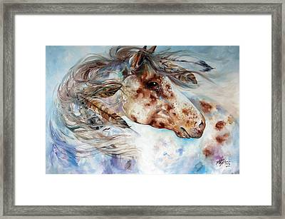 Thunder Appaloosa Indian War Horse Framed Print by Marcia Baldwin