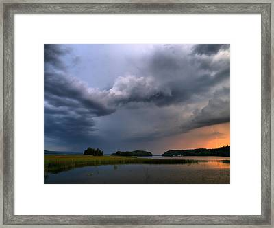 Framed Print featuring the photograph Thunder At Siuro by Jouko Lehto