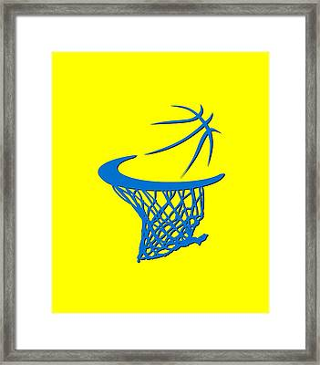 Thunder Basketball Hoop Framed Print