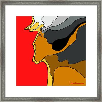 Thunder God Framed Print