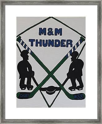 Thunder Hockey Framed Print