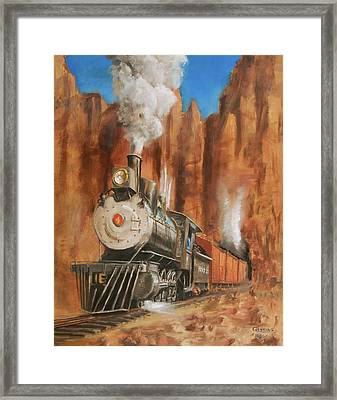 Thunder In Cathedral Canyon Framed Print by Christopher Jenkins