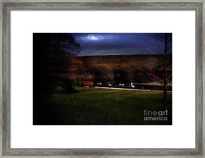 Thunder In The Valley Framed Print