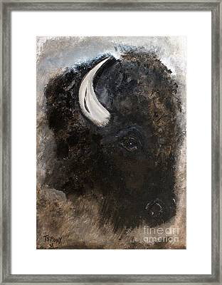 Framed Print featuring the painting Thunder Medicine Cloud by Barbie Batson