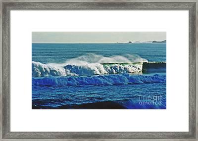 Thunder Of The Waves Framed Print