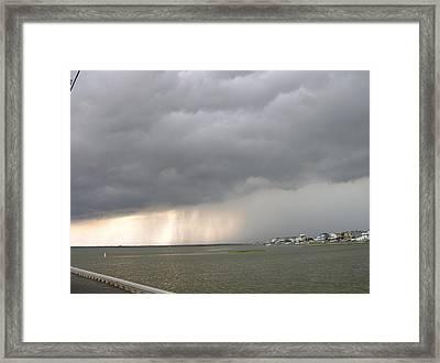 Thunder On The Bay Framed Print