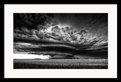 Funnel Clouds Framed Prints