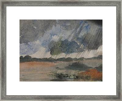 Framed Print featuring the painting Thunder Showers by Trilby Cole