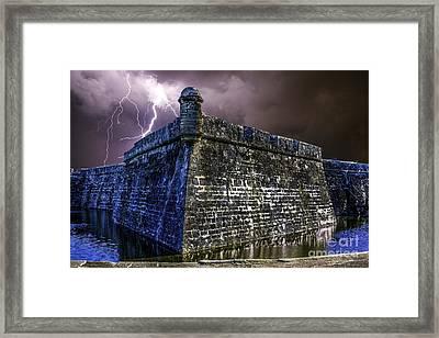 Thunder Storm Over Fort Castillo De San Marcos  Framed Print