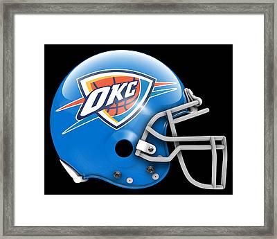 Thunder What If Its Football Framed Print by Joe Hamilton
