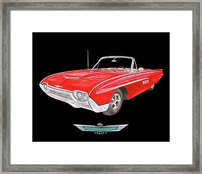 Thunderbird 1963 Convertible Framed Print by Jack Pumphrey