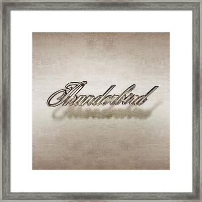Thunderbird Badge Framed Print by Yo Pedro