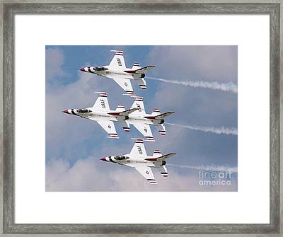 Thunderbird Diamond Formation Framed Print