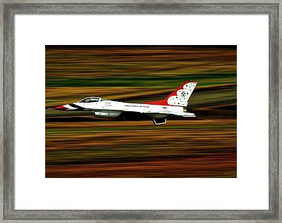 Thunderbird Full Throttle Framed Print by Mountain Dreams