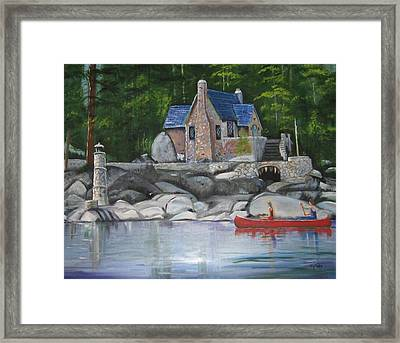 Thunderbird Lodge Boat House Framed Print
