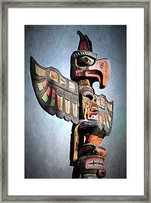 Thunderbird Totem Pole - Thunderbird Park, Victoria, British Columbia Framed Print