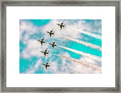 Thunderbirds - All 6 Framed Print by Bill Gallagher