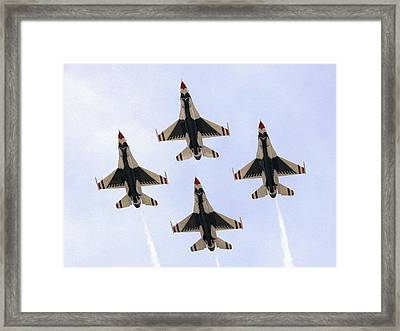 Thunderbirds Away Framed Print by Kevin Fortier