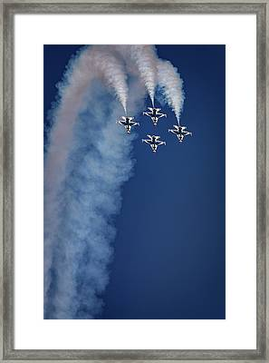 Framed Print featuring the photograph Thunderbirds Diamond Formation by Rick Berk