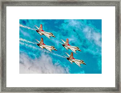 Thunderbirds In Formation II Framed Print by Bill Gallagher
