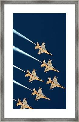 Framed Print featuring the photograph Thunderbirds  by Karen Musick