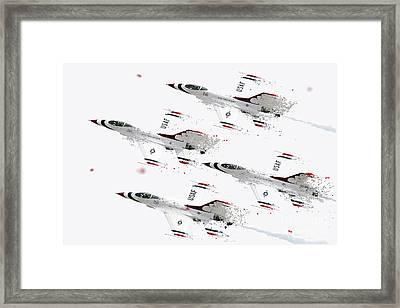 Thunderbirds Shatter Framed Print
