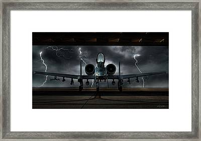 Thunderbolt And Lightning Framed Print by Peter Chilelli