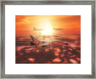 Thunderchief Dawn Framed Print