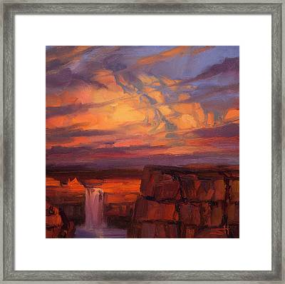 Framed Print featuring the painting Thundercloud Over The Palouse by Steve Henderson