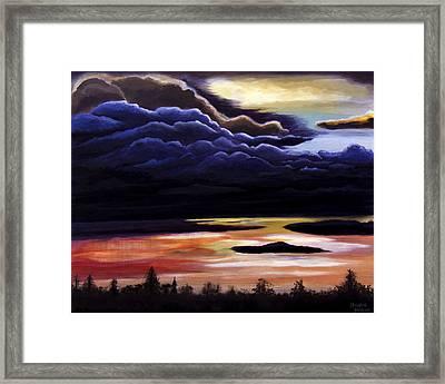 Thunderhead Framed Print by Christie Nicklay