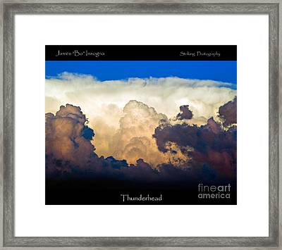 Thunderhead Cloud Color Poster Print Framed Print by James BO  Insogna