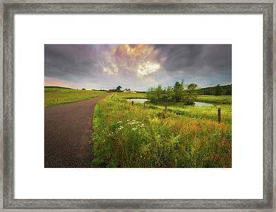 Thunderhead Over Arbutus Hill Framed Print
