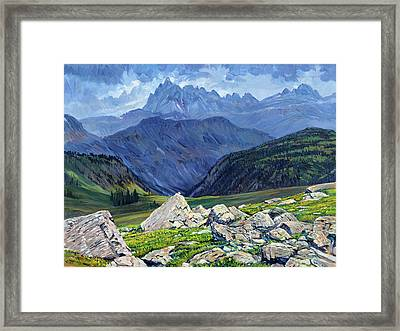 Thunderheads At Fox Creek Pass Framed Print