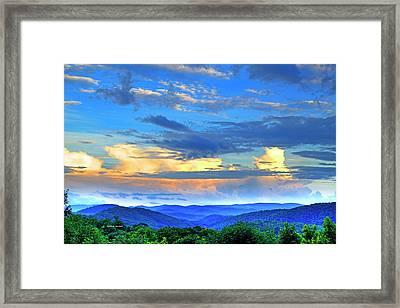 Thunderheads Framed Print