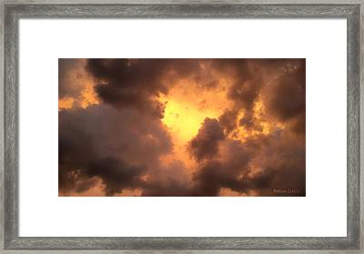 Thunderous Sunset Framed Print
