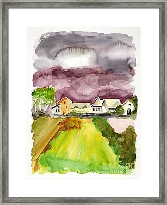 Thunderstorm Approaching Framed Print